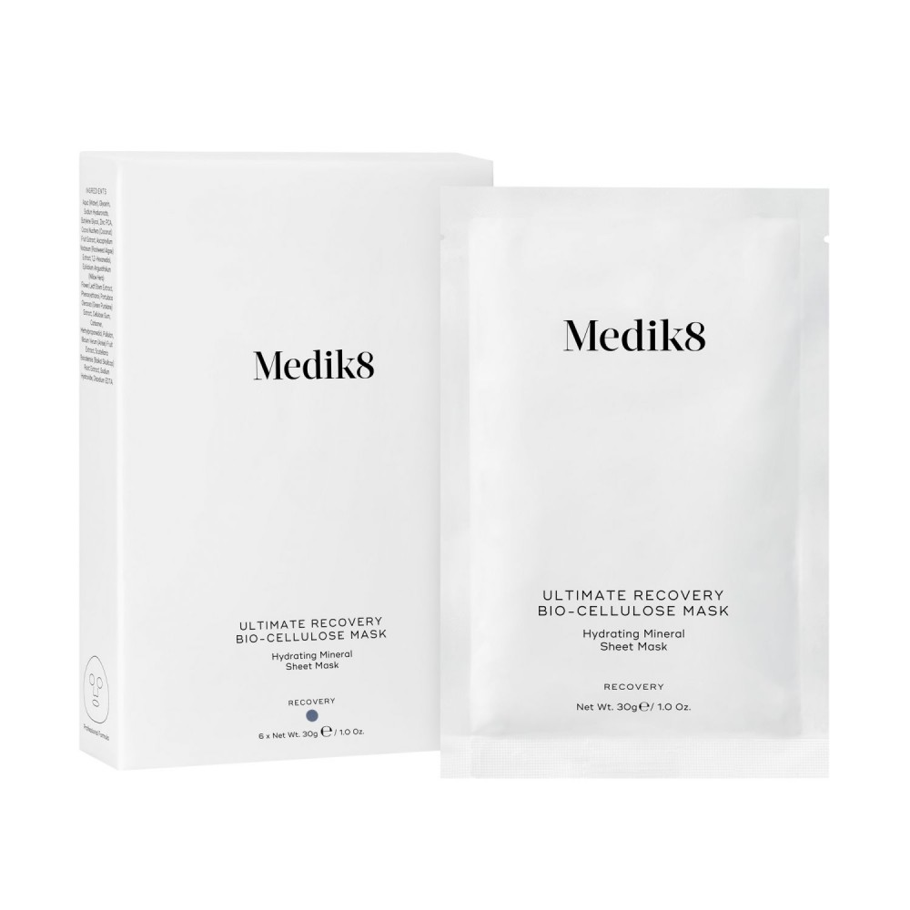 Восстанавливающая биоцеллюлозная маска с цинком - Medik8 Ultimate recovery bio cellulose mask