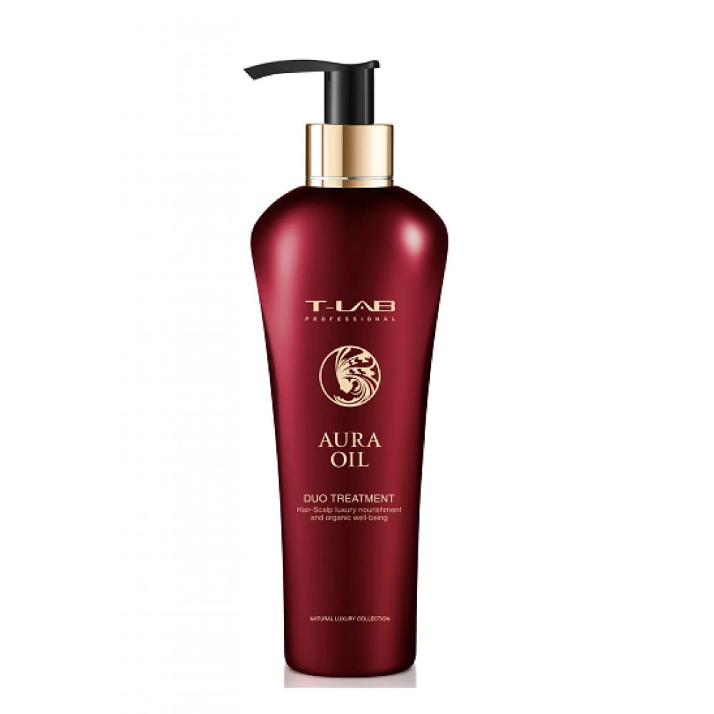 Восстанавливающий кондиционер для сухих и поврежденных волос - T-LAB Professional Aura Oil Duo Treatment