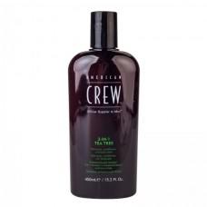 """Средство по уходу за волосами и телом 3-в-1 """"Чайное дерево"""" - American Crew Classic 3-in-1 Shampoo, Conditioner&Body Wash"""