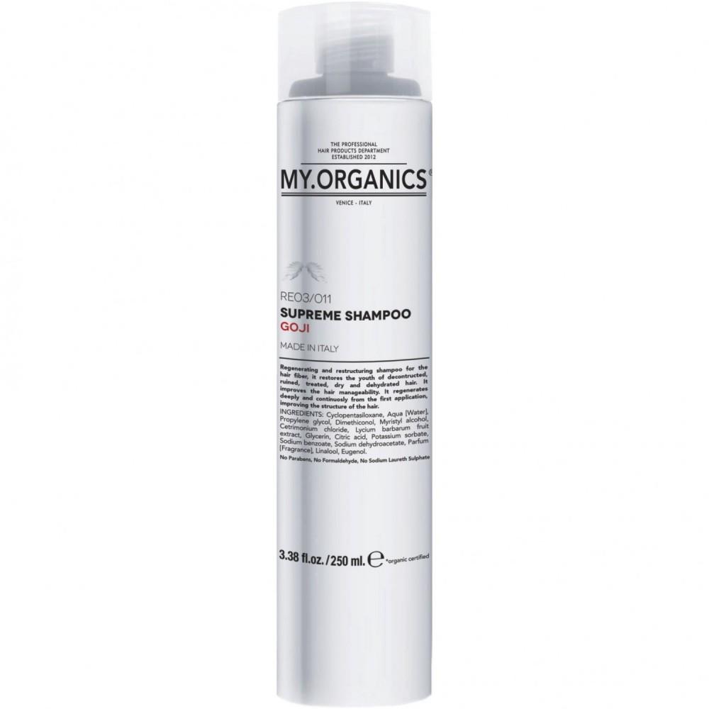 Реструктуризирующий шампунь с ягодами Годжи для сухих и обезвоженных волос - My Organics Supreme Shampoo