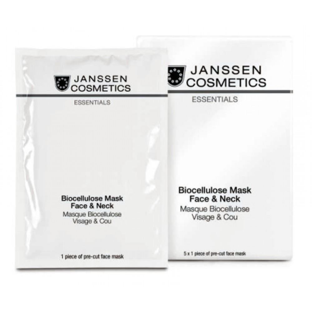 Биоцеллюлозная маска для лица и шеи - Janssen Cosmetics Biocellulose Mask Face & Neck