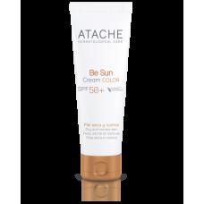 Омолаживающий солнцезащитный крем для лица с тоном и SPF 50+ для нормальной и сухой кожи - Atache Be Sun Cream Color SPF 50+