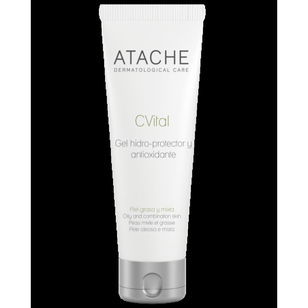 Гидрозащитный антиоксидантный крем-гель для жирной и комбинированной кожи - Atache C Vital Cream-Gel Oily & Combination Skin