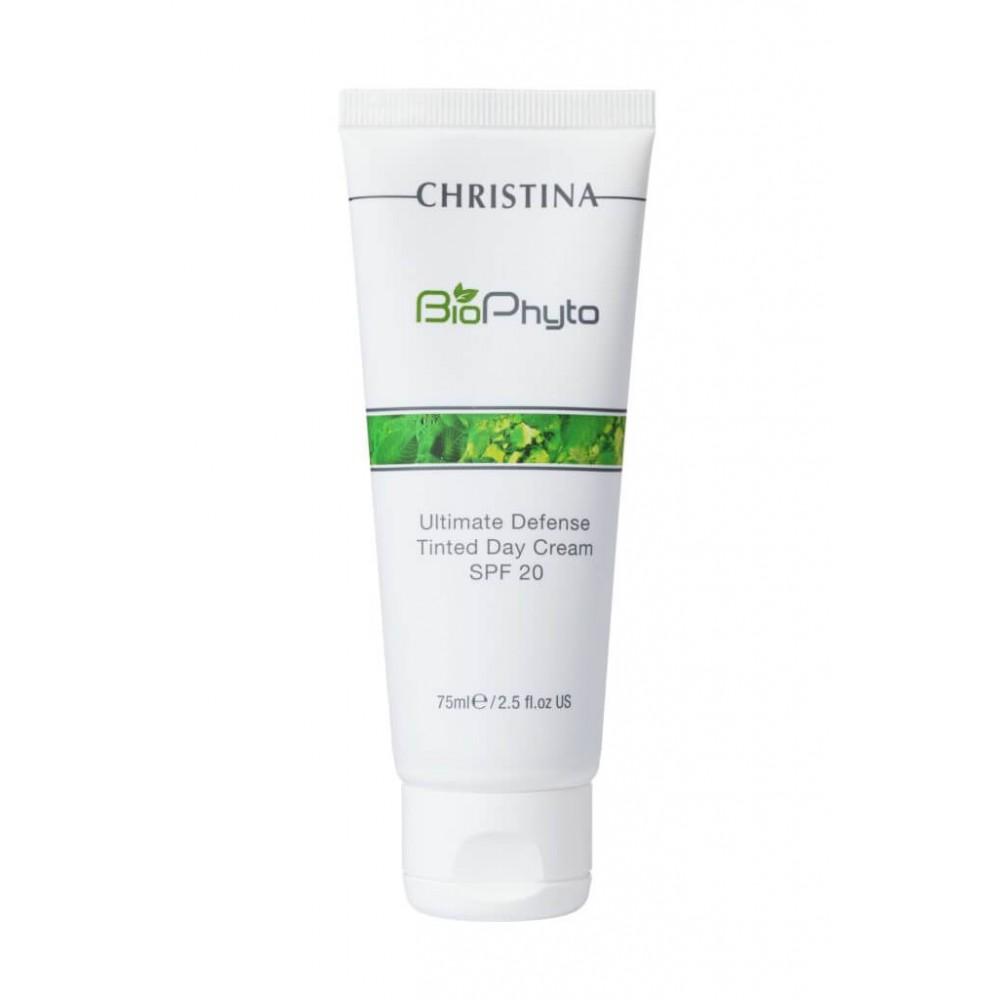 """Дневной крем """"Абсолютная защита"""", с тоном - Christina Bio Phyto Ultimate Defense Tinted Day Cream SPF 20"""
