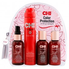 Набор для волос - CHI Rose Hip Color Protection Kit