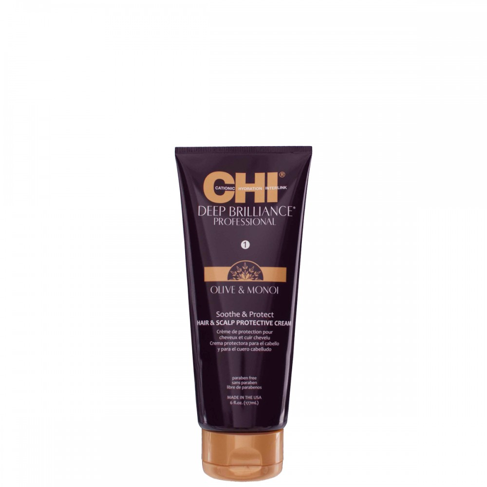 Защитный крем для кожи головы - CHI Deep Brilliance Soothe & Protect Hair & Scalp Protective Cream