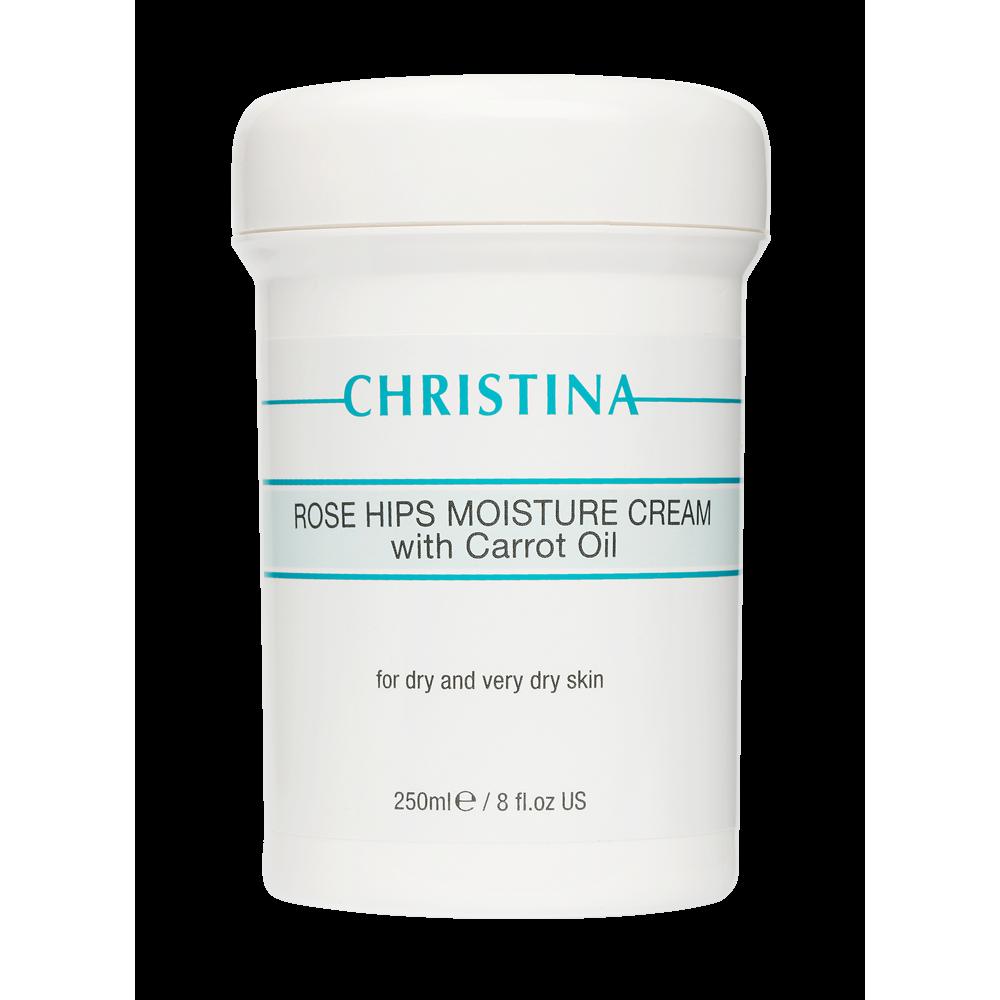 Увлажняющий крем с маслом шиповника и морковным маслом для сухой кожи - Christina Rose Hips Moisture Cream with Carrot Oil