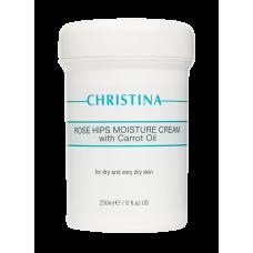 Зволожуючий крем з маслом шипшини і морквяним маслом для сухої шкіри - Christina Rose Hips Moisture Cream with Carrot Oil