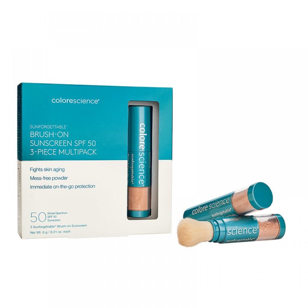 Набор: Солнцезащитная пудра с кистью SPF50 - Colorescience Sunforgettable® Multipack