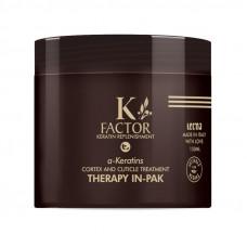 Кератиновая маска для поврежденных волос - Tecna K-Factor Therapy In-Pak