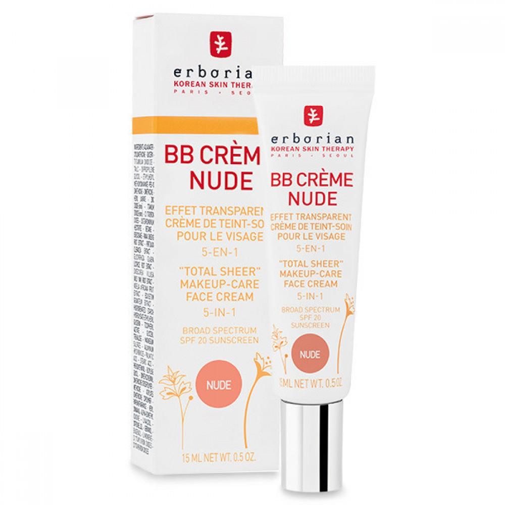 ВВ-крем с тонирующим эффектом, 5 в 1- Erborian BB Cream Nude Au Ginseng SPF20
