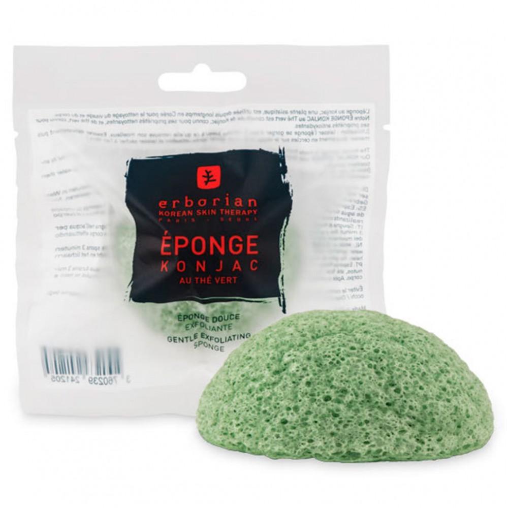 Делікатний спонжик-ексфоліант з зеленим чаєм  - Erborian Green Tea Konjac Sponge