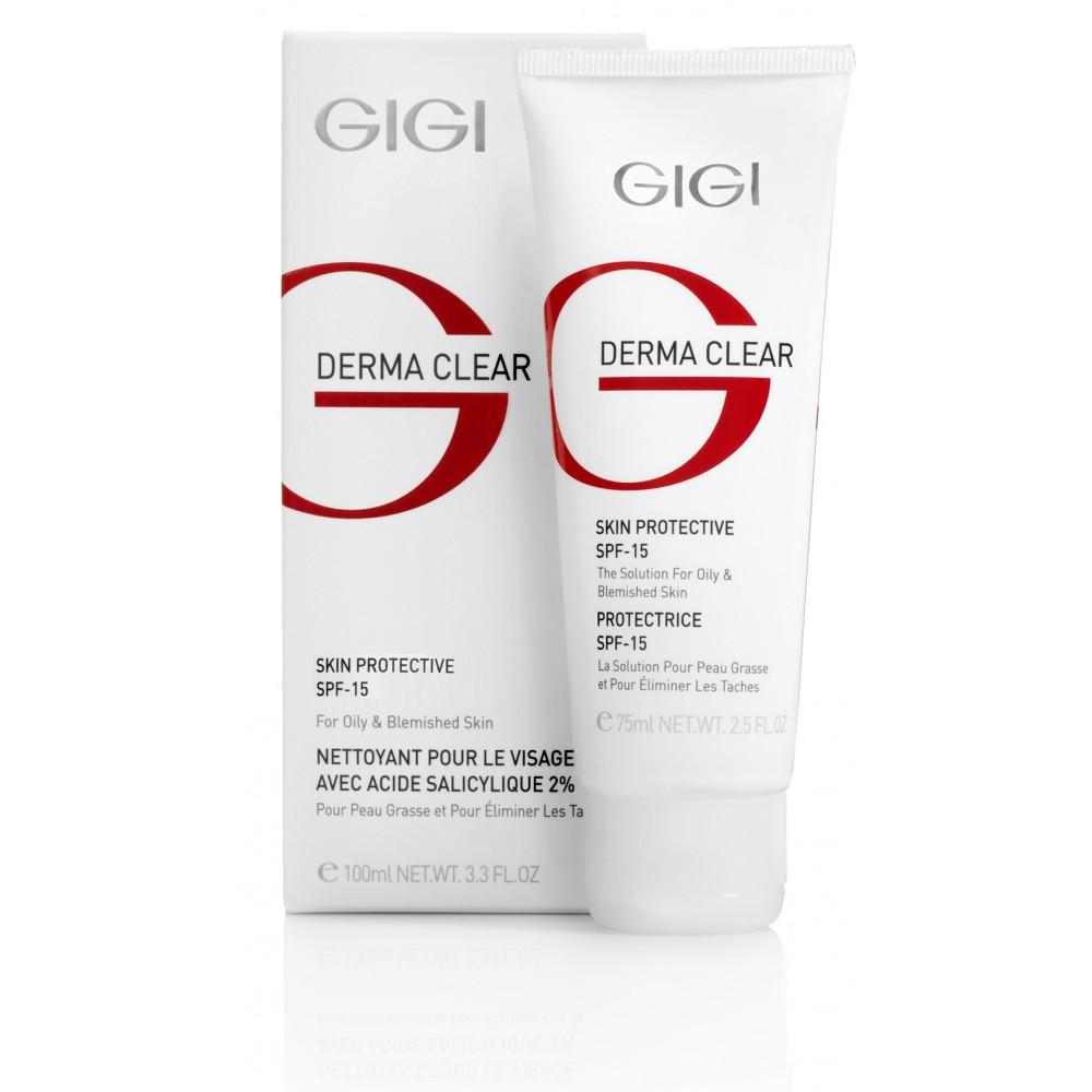 Защитный крем для лица SPF-15 - GIGI DERMA CLEAR Skin Protective SPF-15
