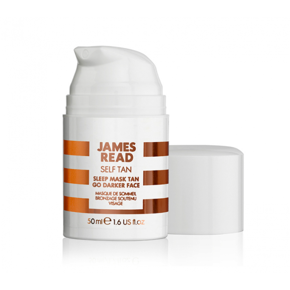 Нічна маска для обличчя з ефектом засмаги - James Read Sleep Mask Tan Go Darker Face