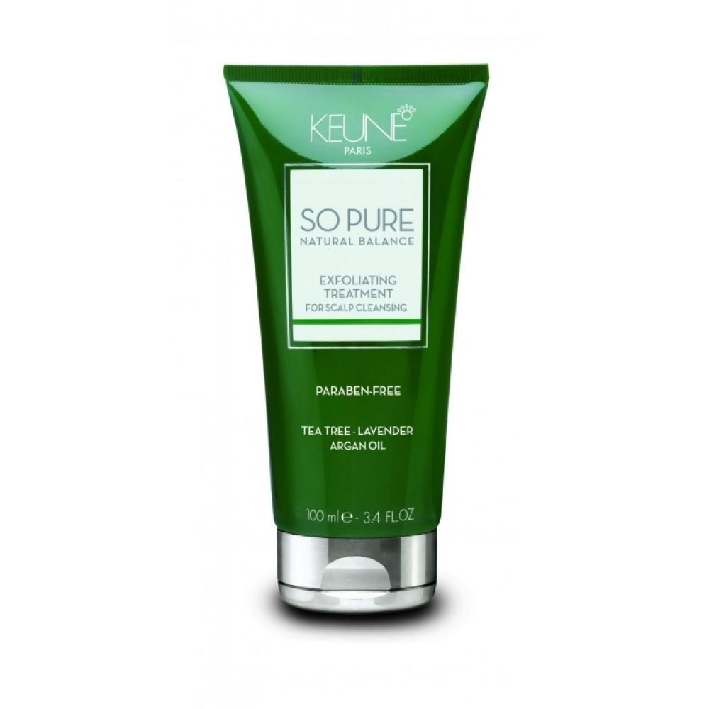 "Маска-скраб ""Турбота про шкіру голови"" - Keune So Pure Exfoliating Treatment"