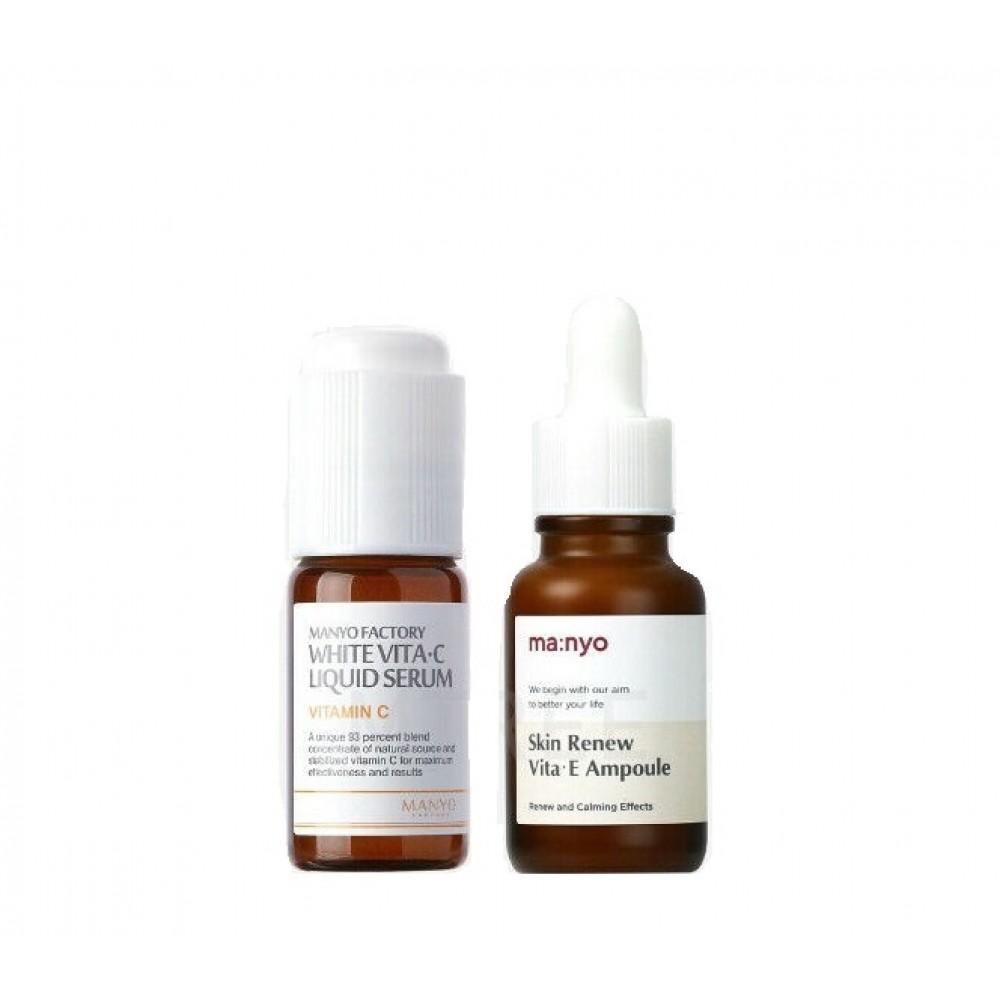 Антиоксидантный набор для питания и осветления кожи - Manyo Factory Vitamin Set C+E