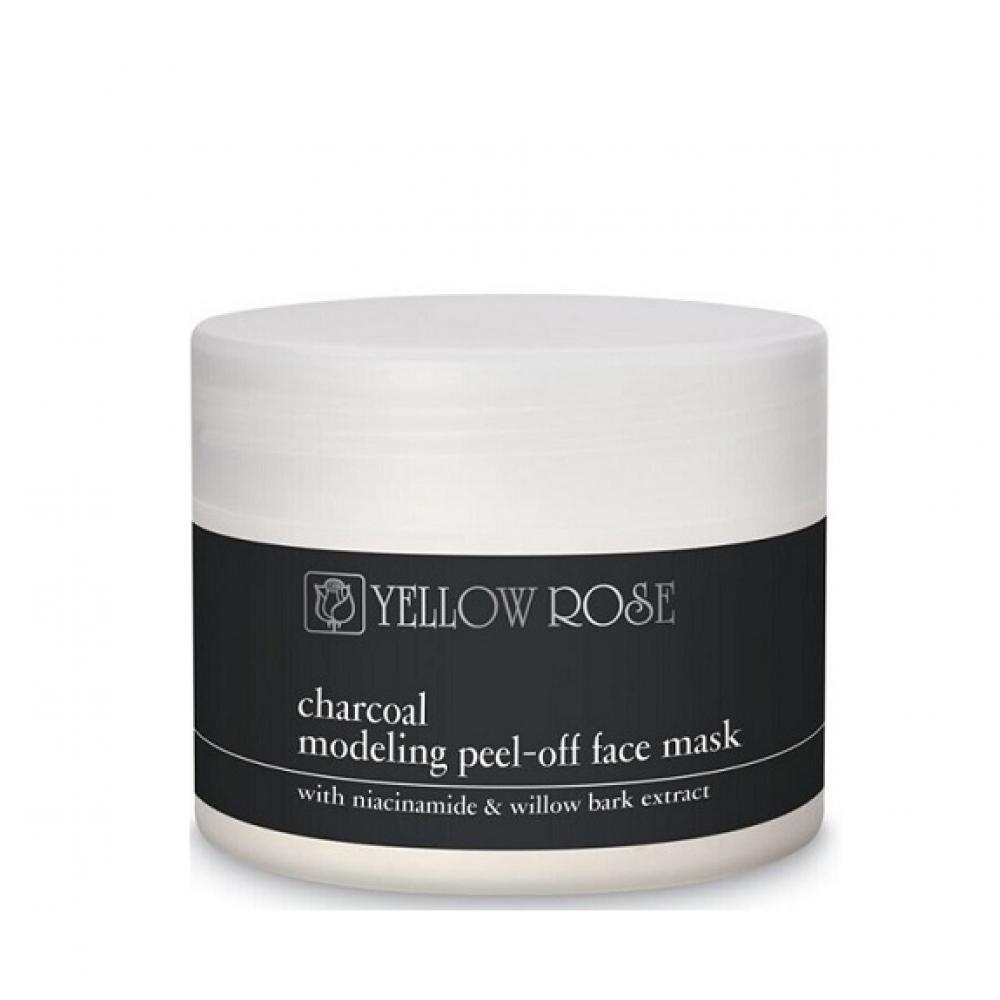 Альгинатная маска для лица с углем - Yellow Rose Charcoal Modeling Face Mask