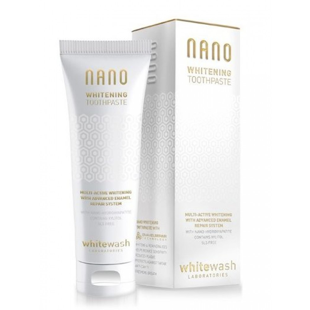 Зубная паста  «NANO отбеливающая с гидроксиапатитом» - WhiteWash Laboratories