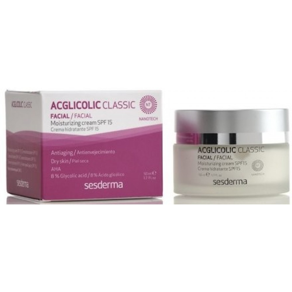 Увлажняющий крем - SesDerma Laboratories Acglicolic 20 Moisturizing Cream SPF 15