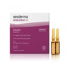 Ампулы с гликолевой кислотой - SesDerma ACGLICOLIC 20 Anti-Aging Moisturizing Ampoules