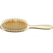 Щетка с металлическими зубчиками золотая  средняя - Janeke