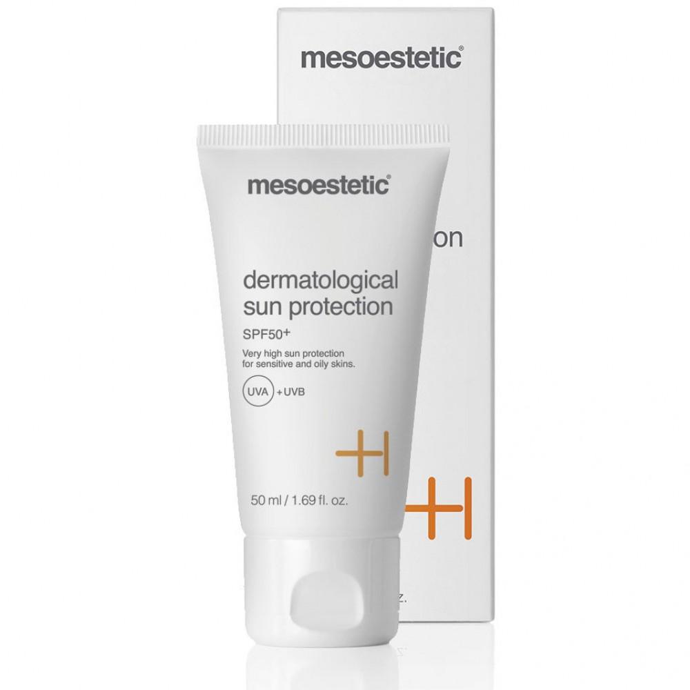 Дерматологический крем для защиты от солнца для комбинированной-жирной кожи 50+ - Mesoestetic Dermatological Sun Protection