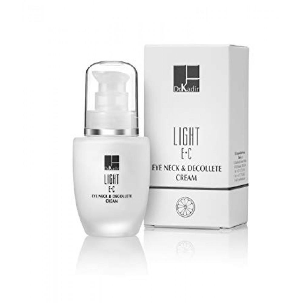 Безмасленный крем для области вокруг глаз и шеи c витаминами Е+С - Dr. Kadir Light E+C Eye Neck & Decolte Cream