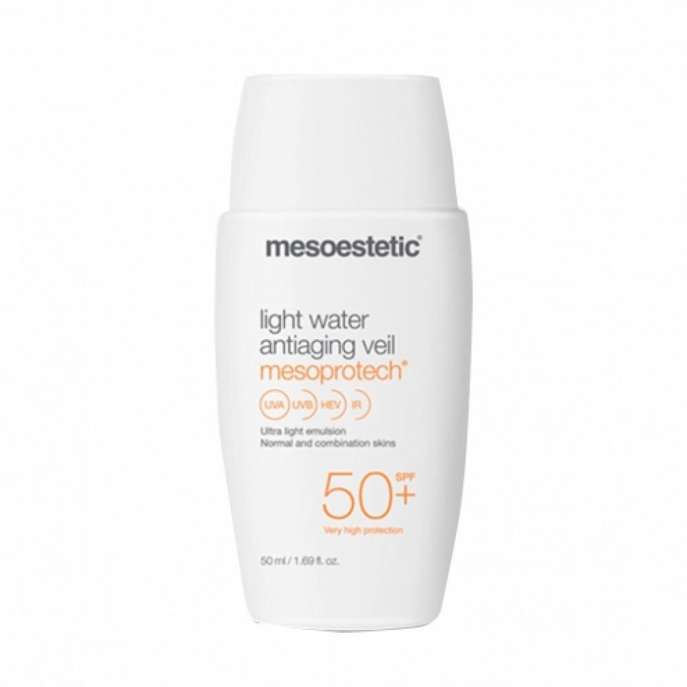 Лёгкая антивозрастная сыворотка-вуаль SPF-50+ - Mesoestetic Mesoprotech Light Water Antiaging Veil SPF-50+
