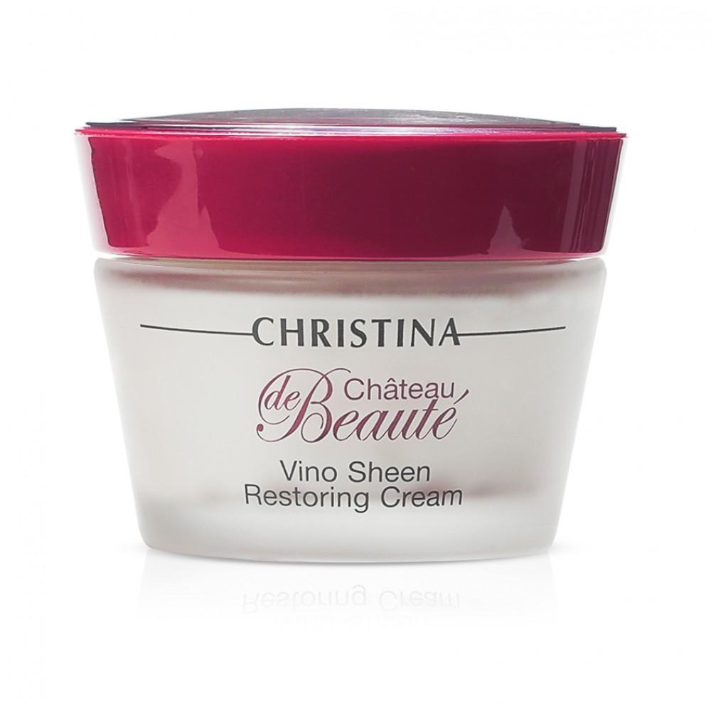 """Восстанавливающий крем """"Великолепие"""" на основе экстракта винограда - Christina Chateau de Beaute Vino Sheen Restoring Cream"""