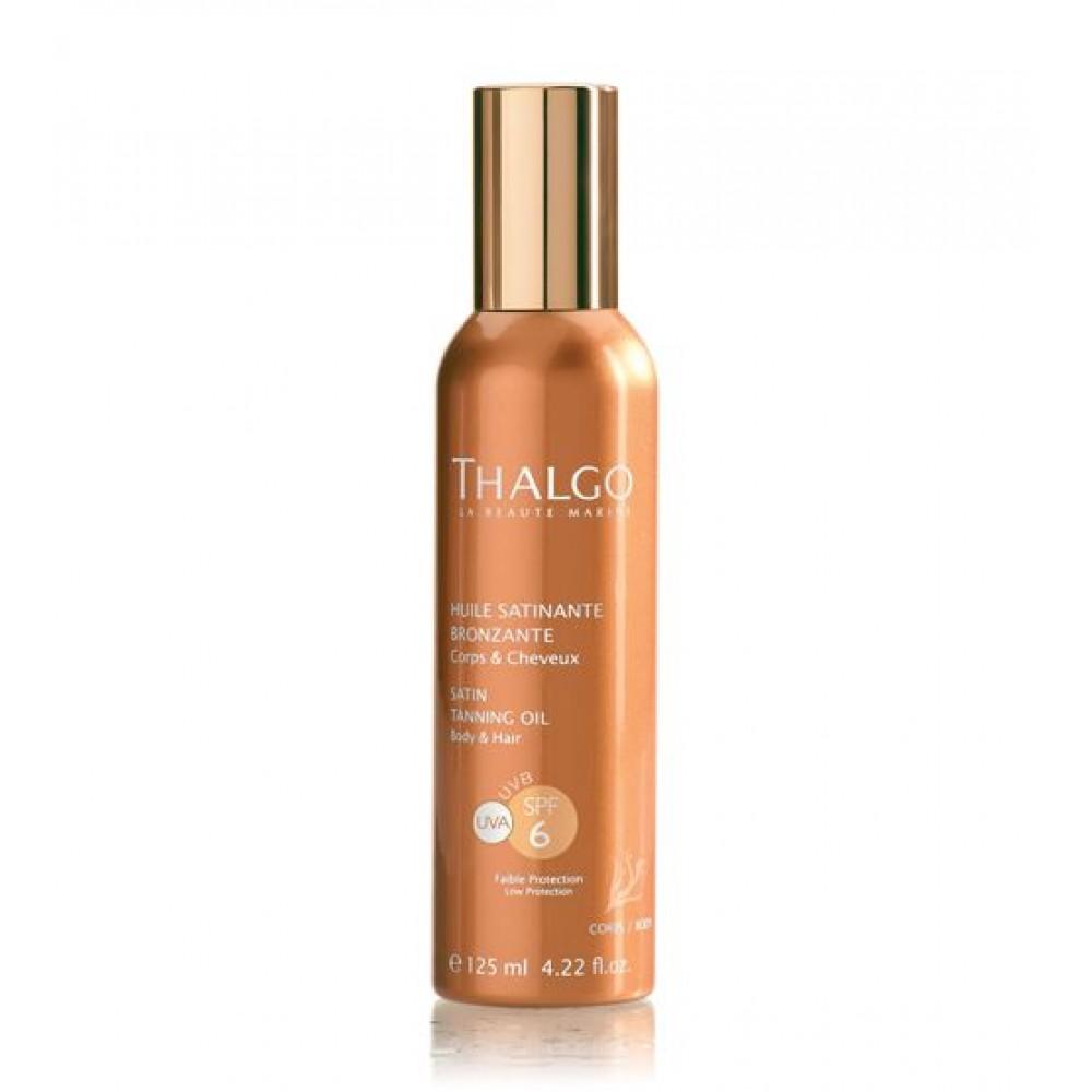 Атласное масло для загара - Thalgo SPF6 SATIN TANNING OIL