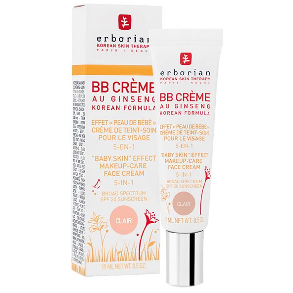 ВВ Крем с тонирующим эффектом, 5 в 1-Erborian BB Cream Clair Au Ginseng SPF20