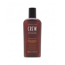 Балансирующий шампунь против перхоти для жирной кожи головы - American Crew Anti Dandruff+Sebum Control Shampoo