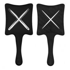 Компактная расческа-детанглер - Ikoo Paddle X pops - beluga black
