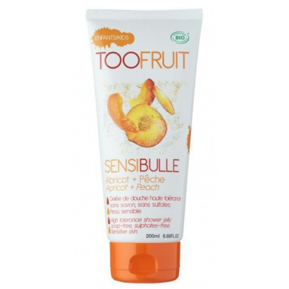 "Гель для душа ""Персик & Абрикос"" - Toofruit Sensibulle Shower Jelly"
