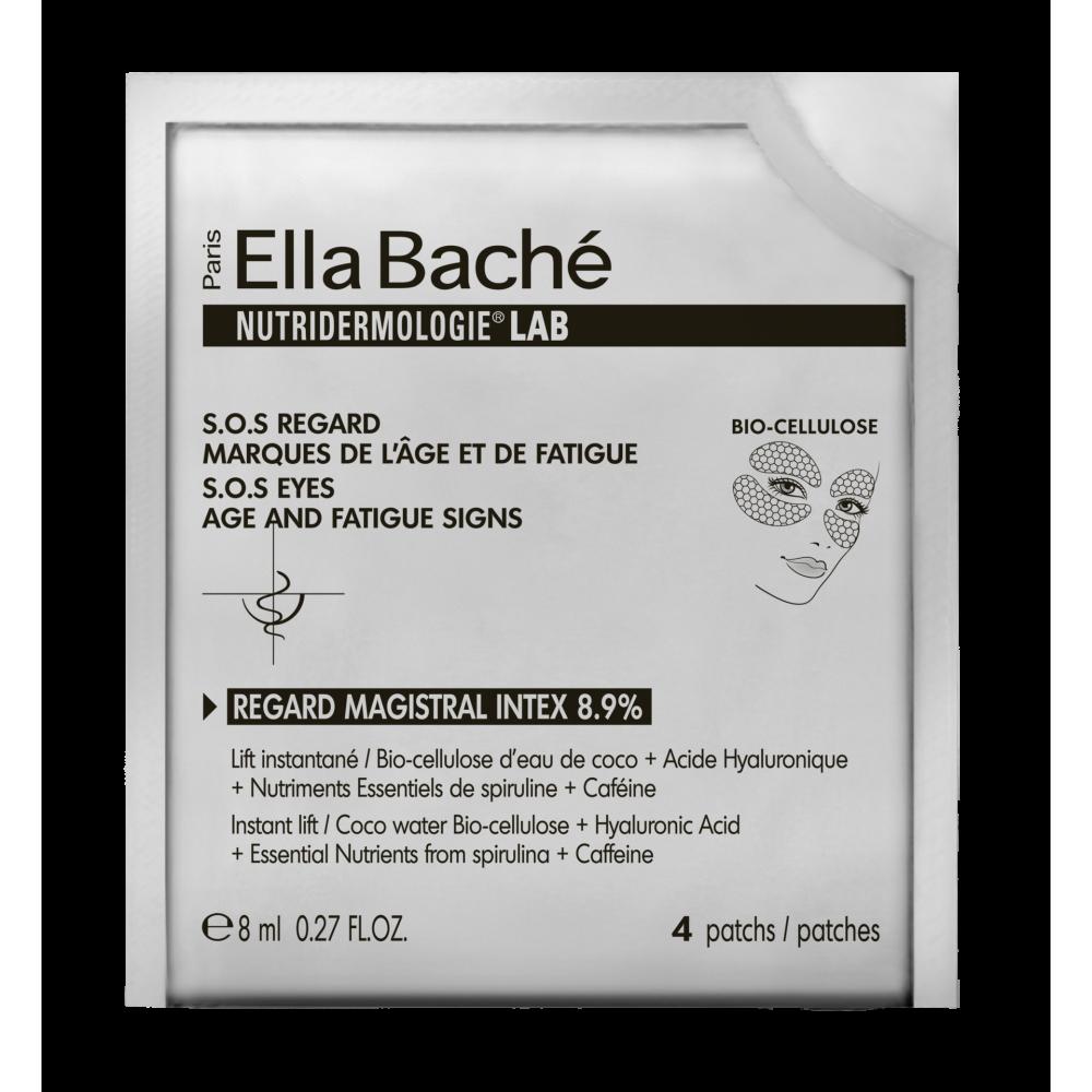Патчи Мажистраль Интекс 8,9% для нижнего и верхнего века - Ella Bache Regard Magistral Intex 8,9% - Bio cellulose eye patches
