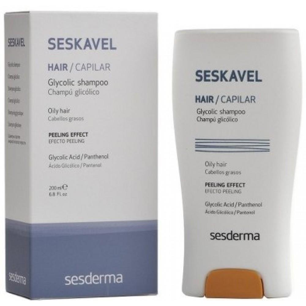 Защитный шампунь с гликолиевой кислотой - Sesderma Ses Kavel Glycolic Shampoo
