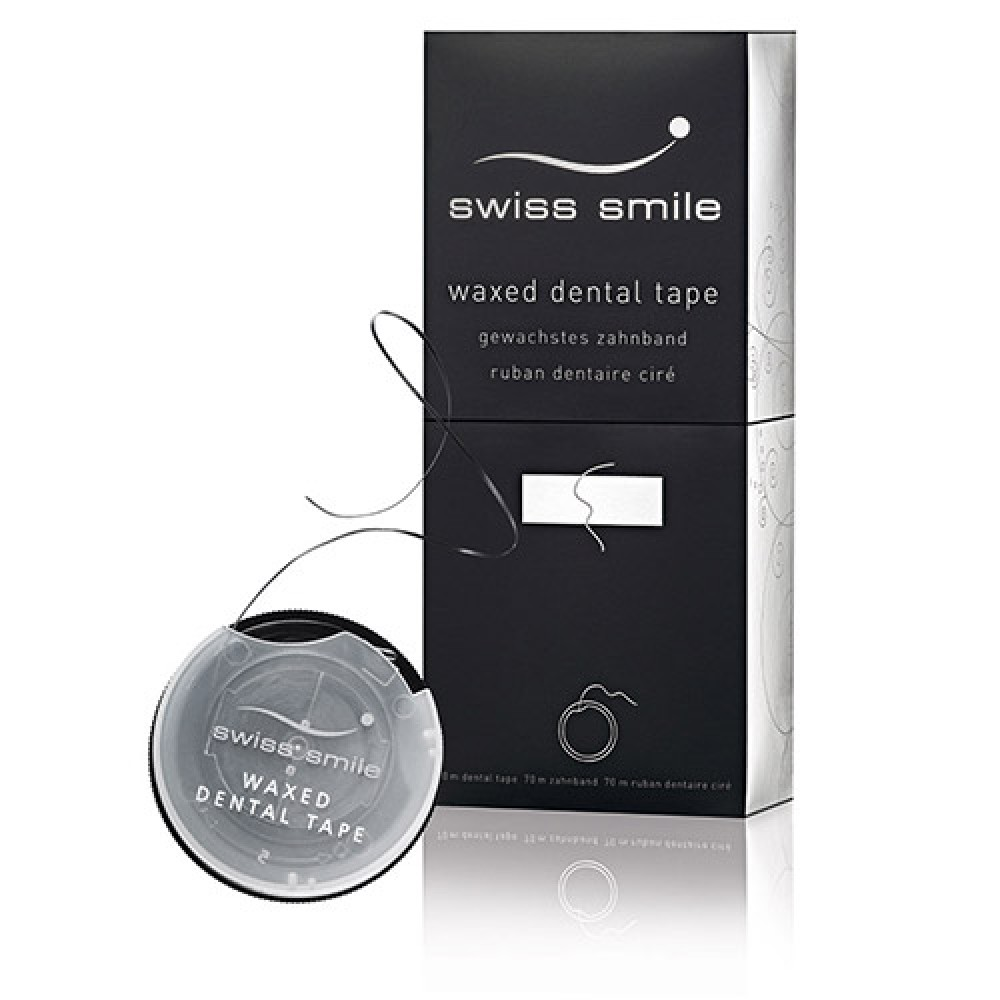 Вощеная зубная лента со вкусом мяты - swiss smile in between